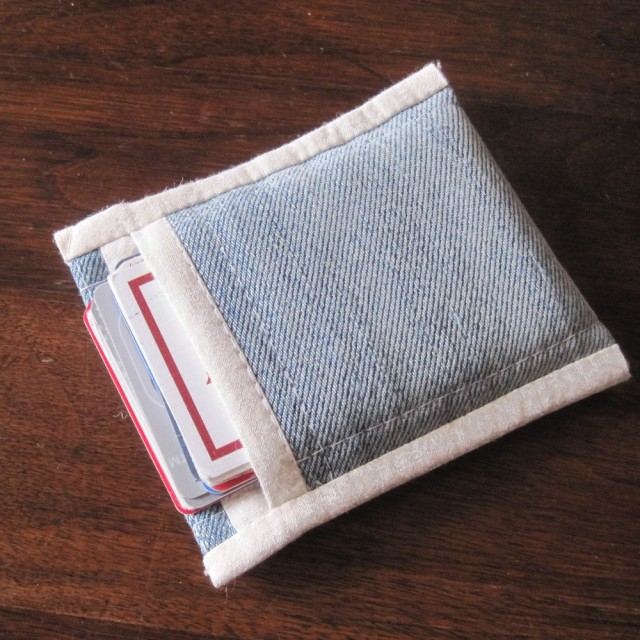 Denim business card case